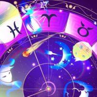 Зодиакальный круг с различными планетами