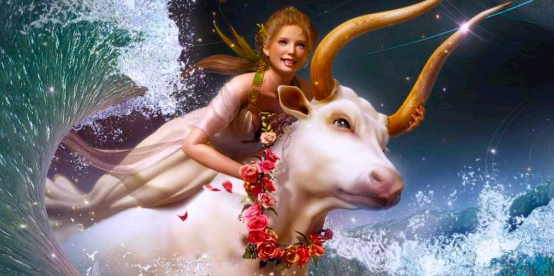Красивая девушка на быке