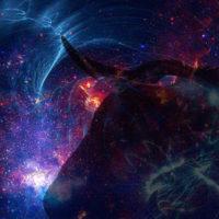 Телец в абстрактном небе
