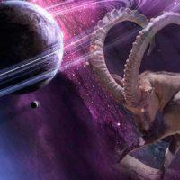Козерог бадает планету в Космосе