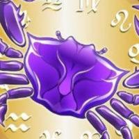 Фиолетовый Рак в круге