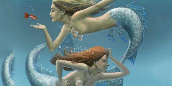 Две русалки словно Рыбы