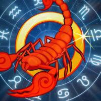 Скорпион и зодиакальный круг