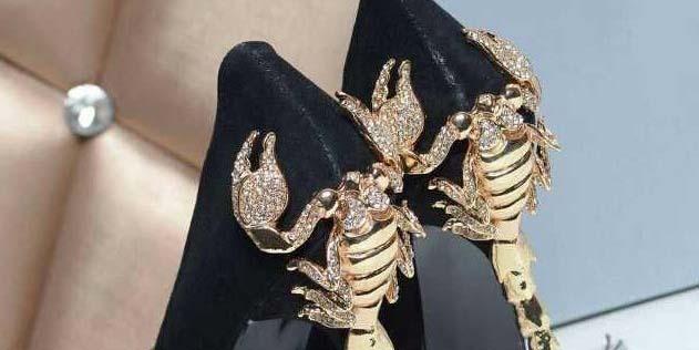Туфли с каблуками из скорпиона