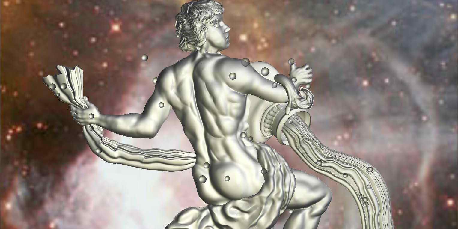 Водолей мужчина гравюра