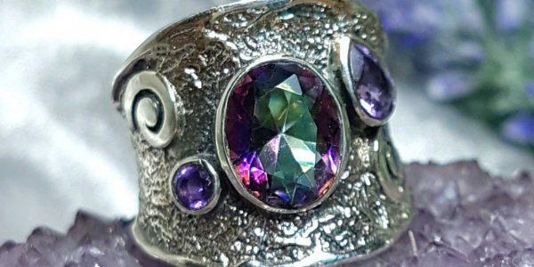 Целительное кольцо с Топазом