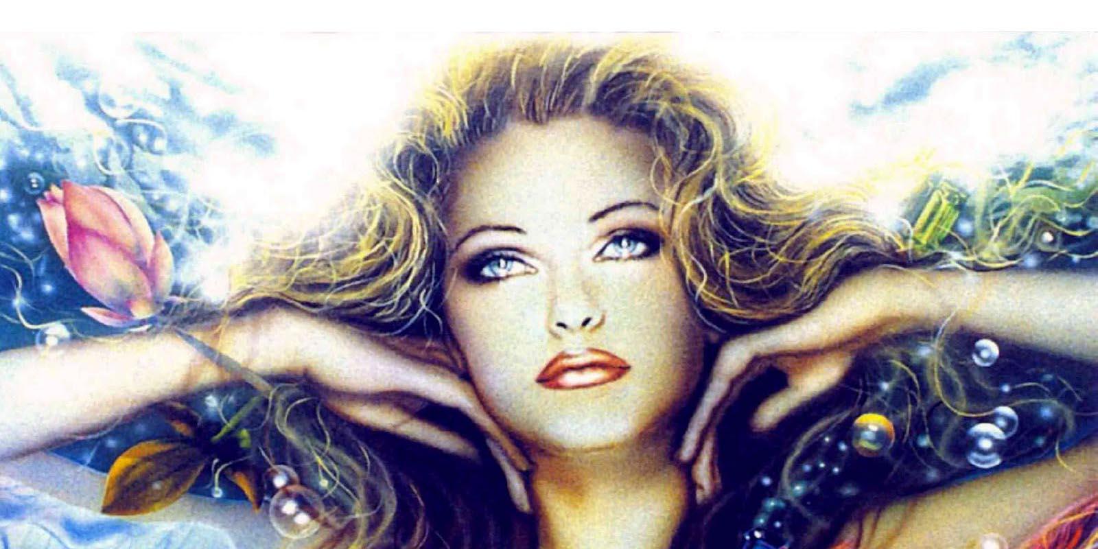Женщина Дева с распущенными волосами