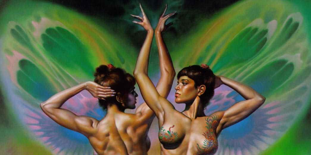 Бабочки близнецы привлекательные девушки