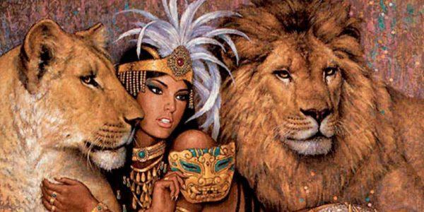 Царица со Львами