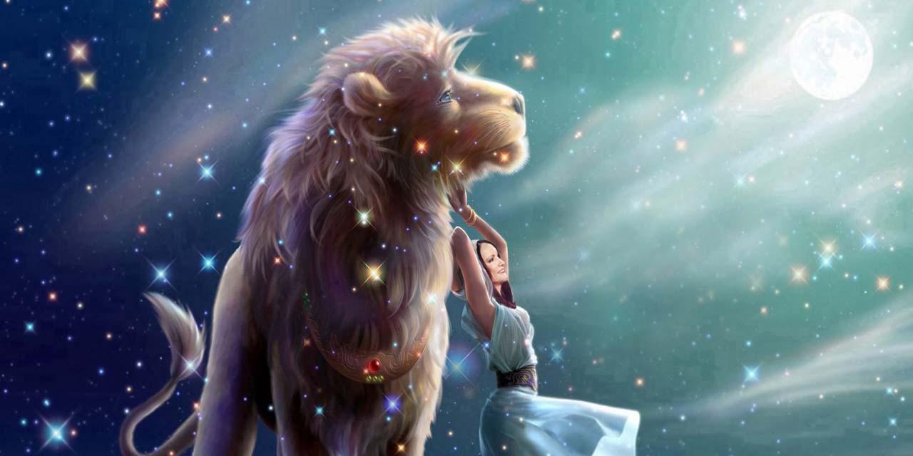 Большой Лев с девушкой