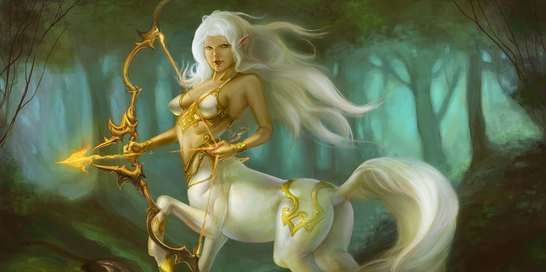 Женщина Стрелец на коне