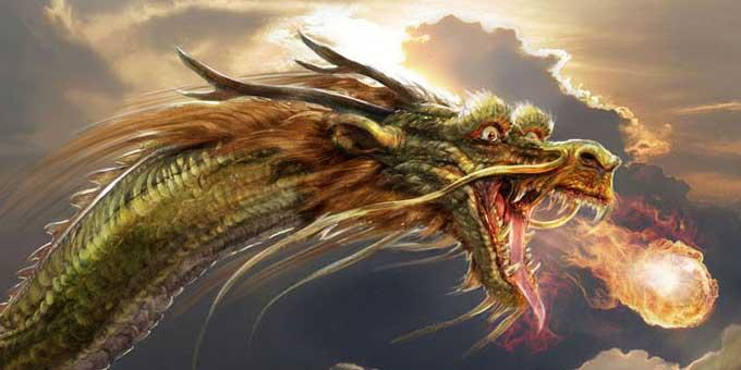 Летящий огненный Дракон