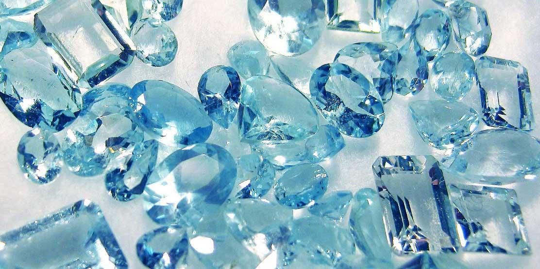 Голубой фианит
