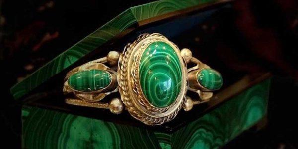 Перстень с Малахитом